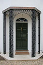 Decorative Wrought Iron Support For an Oriel Window