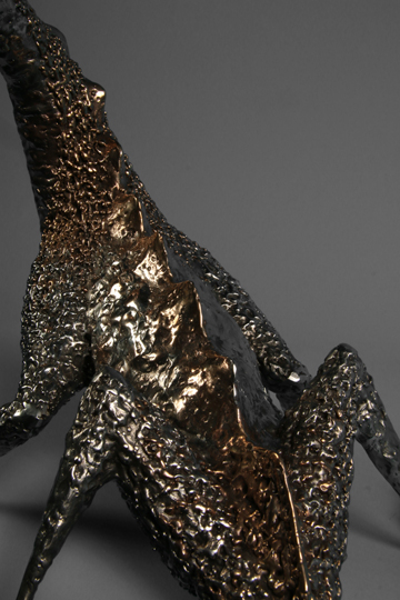 bronze and stainless steel dragon skin texture