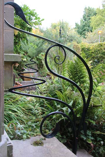 Feature metal handrails outside period property