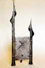 forged steel and wrought iron metal clocks