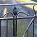 Forged steel Art Nouveau gates