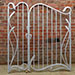 Asymmetrical Art Nouveau gates