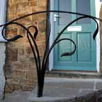 Stylised plant steel handrail