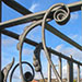 Organic metal railings
