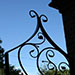 hand forged gate with leaves