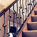 knotted steel stair railings