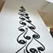 Forged steel wall sculpture