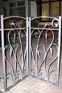 wrought iron folding driveway gates