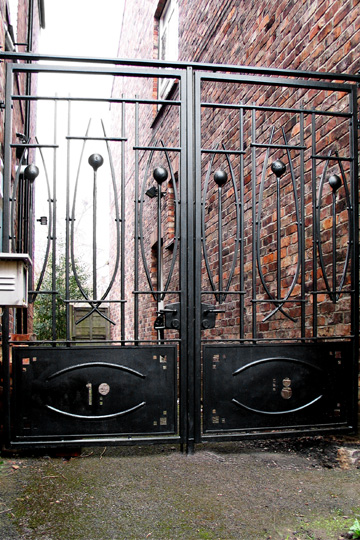 contemporary Rennie Mackintosh metal gate
