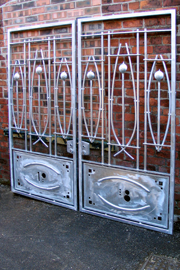 contemporary steel Rennie Mackintosh gates