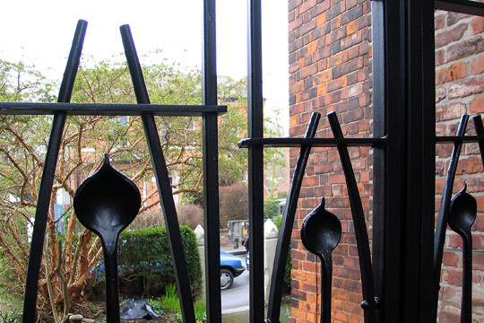 contemporary Rennie Mackintosh wrought iron gates