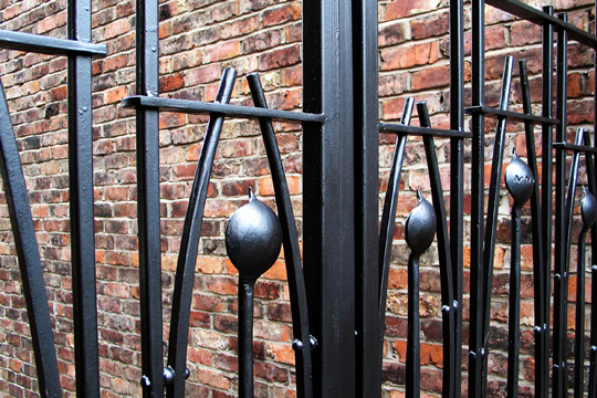 contemporary Rennie Mackintosh steel gates