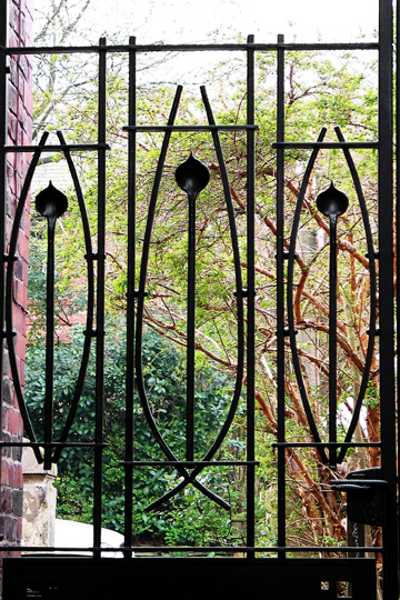 contemporary Rennie Mackintosh metal gates