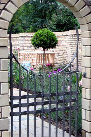 contemporary arched gate