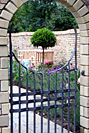 bespoke forged steel garden gate