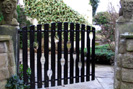 contemporary forged steel driveway gates