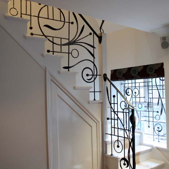 Art Nouveau Inspired Metal Stair Railings