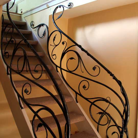 Creative and Spectatcular Metal Stair Railings