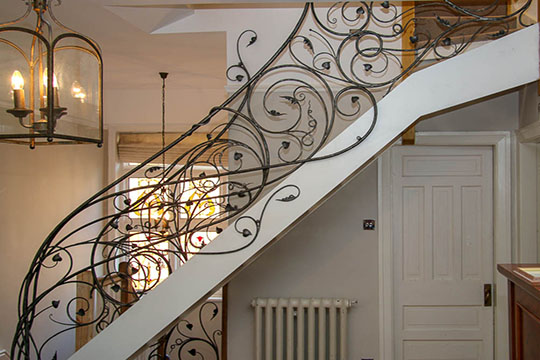 Wrought Iron Stair Railings Inspired by Natural Forms