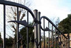 satin black painted gates