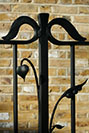 Hand forged organic wrought iron railings