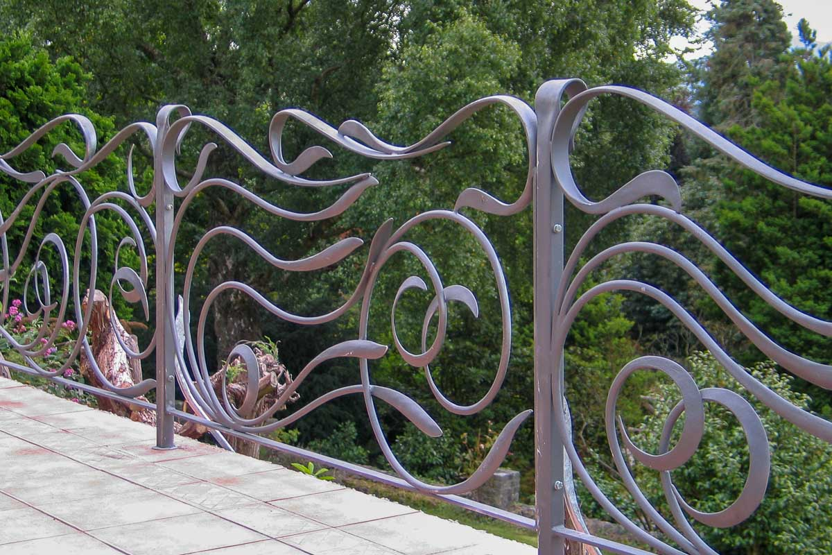 Contemporary wrought iron railings