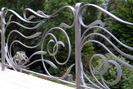 creative flowing wrought iron railings