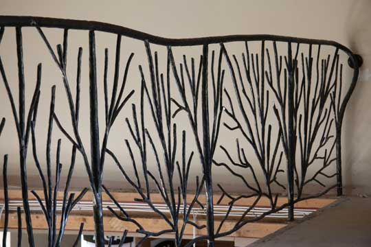 spectacular and dramatic metal stair railings