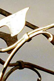 Collar joint on a galvanised weather vane