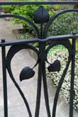 Contemporary wrought iron garden gate