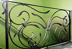 An Art Nouveau inspired stair balustrade