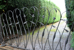 Contemporary wrought iron driveway gates