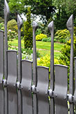 A contemporary designer metal gate