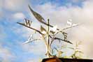 contemporary wrought iron weather vane