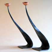 candlesticks forged from angle iron
