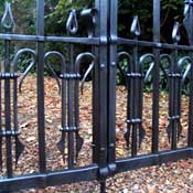 hot punched hole forged steel gate